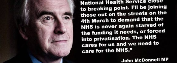 NHS national demonstration in London 4 March