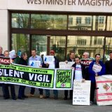 Cross rail case moves to the Southwark Crown Court May 10 from 10 AM picket