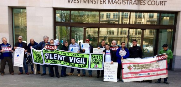 Cross rail case moves to the SouthwarkCrown Court May 10 from 10 AM picket