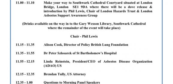 London action Mesothelioma day 7 July