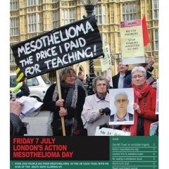 London hazards  magazine Mesothelioma day