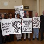 Safety Representatives protest